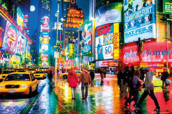 New York - Times square Poster, Art Print