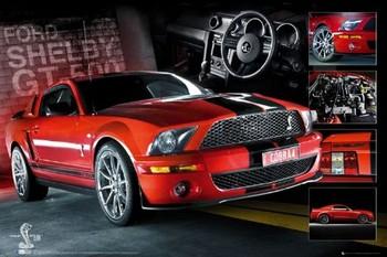 Red Mustang Poster, Art Print