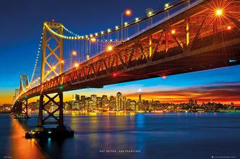 San Francisco - bay bridge Poster, Art Print