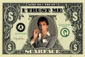 SCARFACE - dollar Poster, Art Print