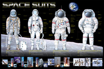 Space suits Poster, Art Print