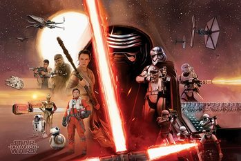 Star Wars Episode VII: The Force Awakens - Galaxy Poster, Art Print