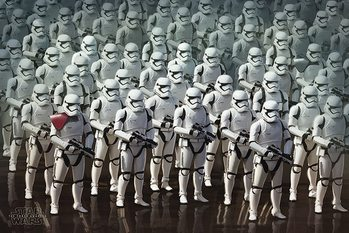 Star Wars Episode VII: The Force Awakens - Stormtrooper Army Poster, Art Print