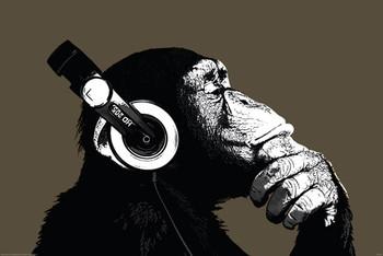 The Chimp - stereo Poster, Art Print