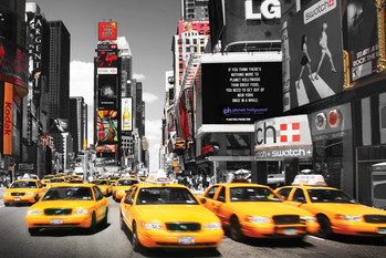 TIMES SQUARE - yellow cabs day posters | art prints