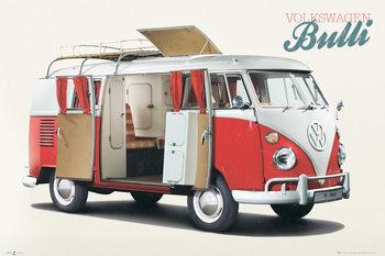 VW Volkswagen Camper - Bulli Poster, Art Print