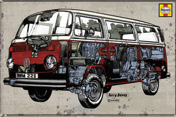 VW Volkswagen Camper - Hayness Campervan Poster, Art Print