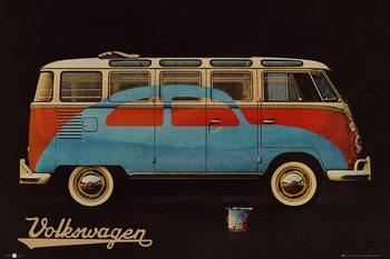 VW Volkswagen Camper - Paint Advert Poster, Art Print