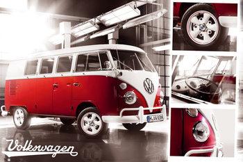 VW Volkswagen Camper - Split Screen Poster, Art Print