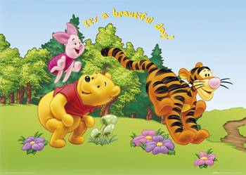 WINNIE THE POOH - beautifull day posters | art prints