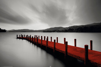 WOODEN LANDING JETTY - red posters | art prints