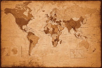 WORLD MAP - antik posters | art prints