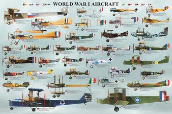 World war I - aircraft Poster, Art Print