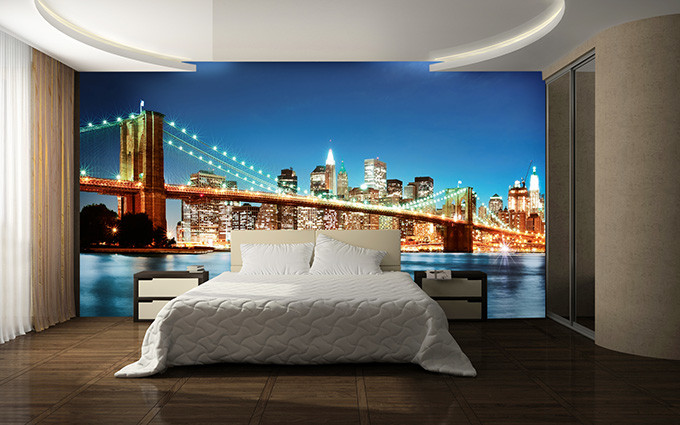 new york east river poster mural acheter le sur. Black Bedroom Furniture Sets. Home Design Ideas