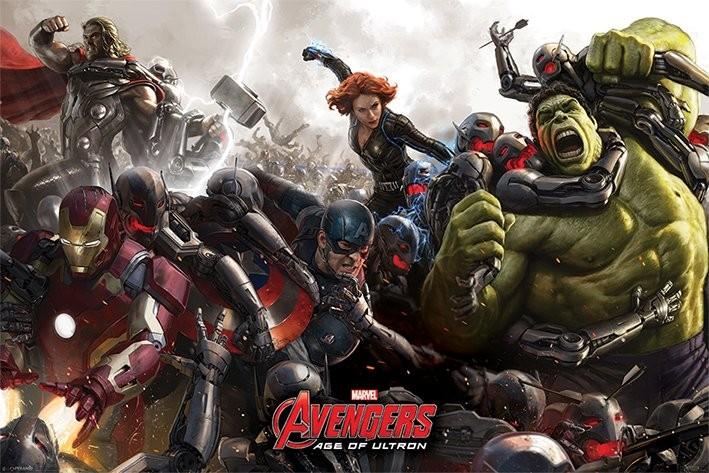 Avengers 2 L 200 Re D Ultron Battle Poster Affiche