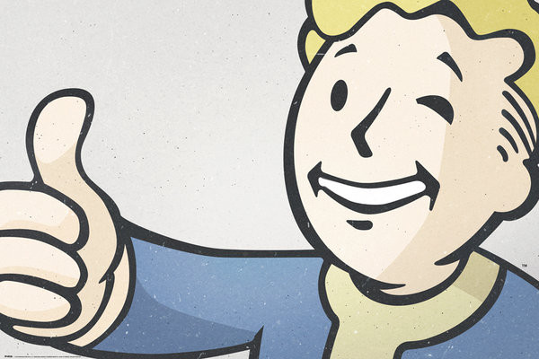 fallout 4 vault boy poster affiche acheter le sur. Black Bedroom Furniture Sets. Home Design Ideas