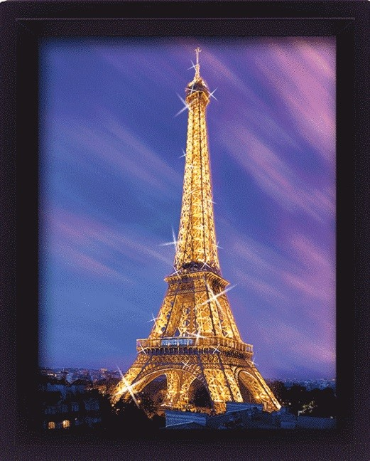 paris la tour eiffel 3d affiche acheter en ligne sur europosters. Black Bedroom Furniture Sets. Home Design Ideas