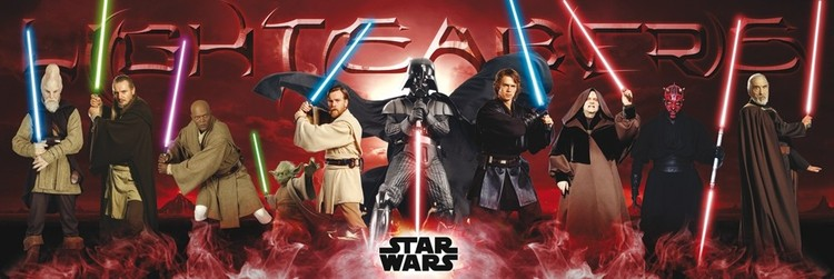STAR WARS - lightsabers Affiche, poster, photographie