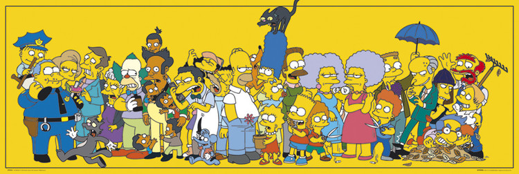 THE SIMPSONS - stars Affiche, poster, photographie