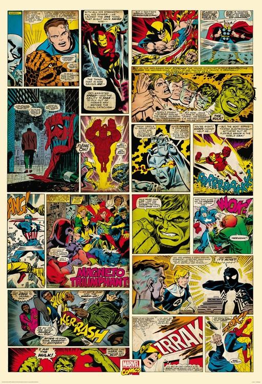 Avengers Comic - Marvel Fototapeta