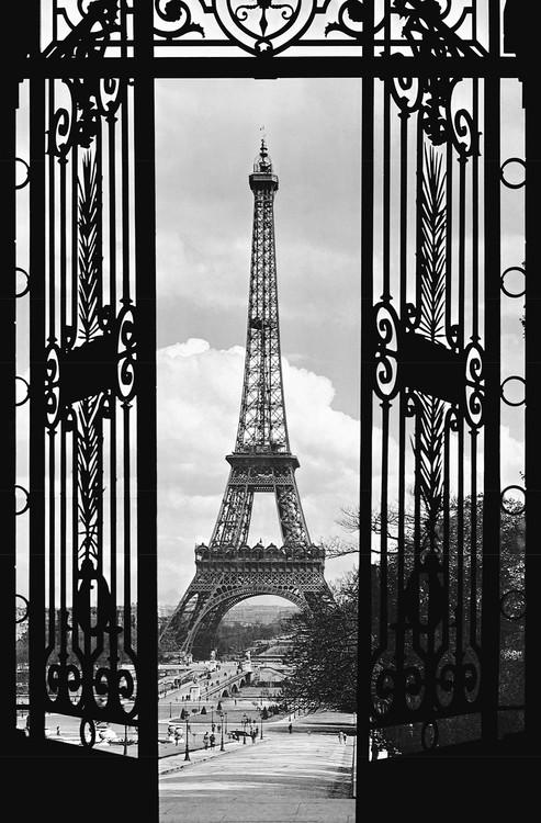 LA TOUR EIFFEL 1909 Fototapeta