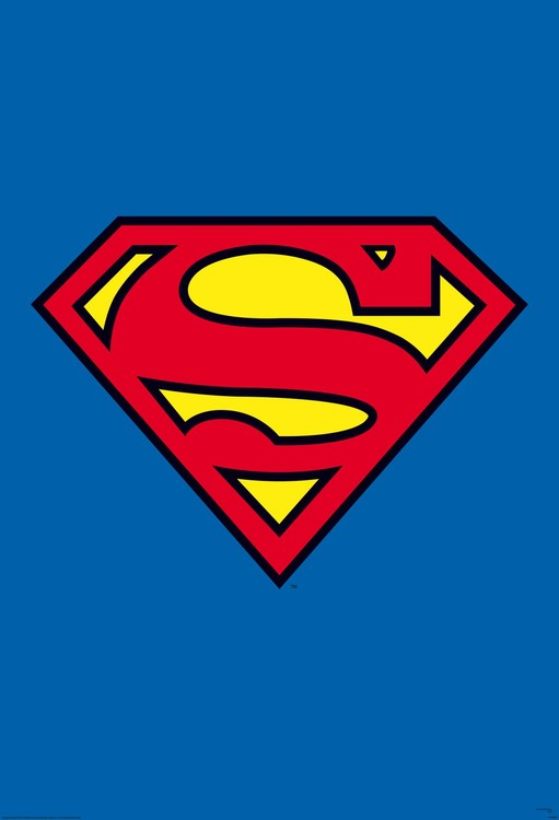 Superman - logo Fototapeta