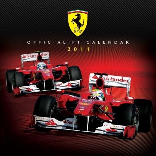 Kalendar 2011 - FERRARI F1 Kalendarz