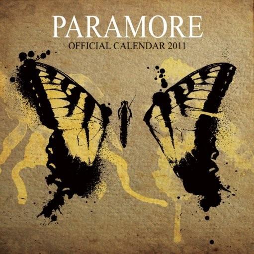 Kalendář 2011 - PARAMORE Kalendarz