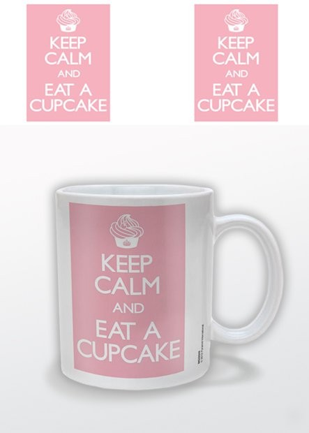 Keep Calm and Eat a Cupcake Kubek