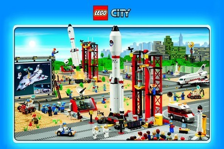 lego city space poster encadr acheter le sur. Black Bedroom Furniture Sets. Home Design Ideas