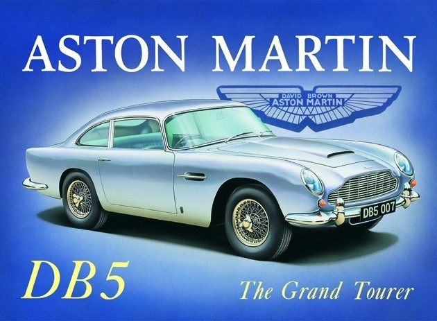 Magnets For Cars >> ASTON MARTIN DB5 Tin Signs, Metal Signs | Sale at EuroPosters