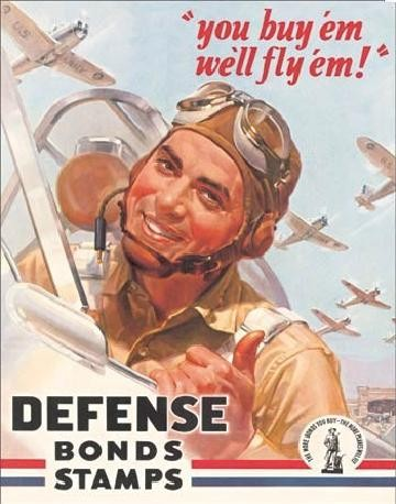 DEFENSE BOND STAMPS - flayem Metal Sign