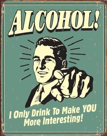 Metalowa tabliczka ALCOHOL - you interesting