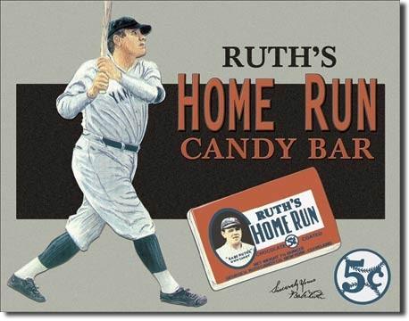 Metalowa tabliczka BABE RUTH - candy bar