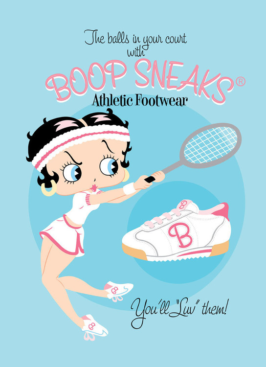 Metalowa tabliczka BETTY BOOP SNEAKS