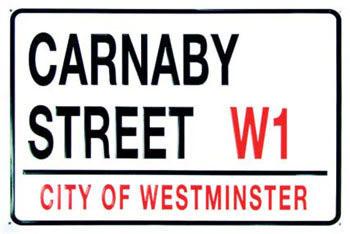 Metalowa tabliczka CARNABY STREET