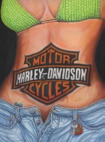 Metalowa tabliczka CAROLINE STURGIS - harley davidson