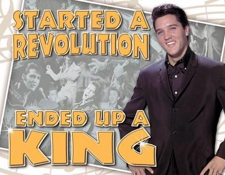 Metalowa tabliczka Elvis Presley - Ended Up a King