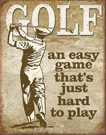 Metalowa tabliczka Golf - Easy Game