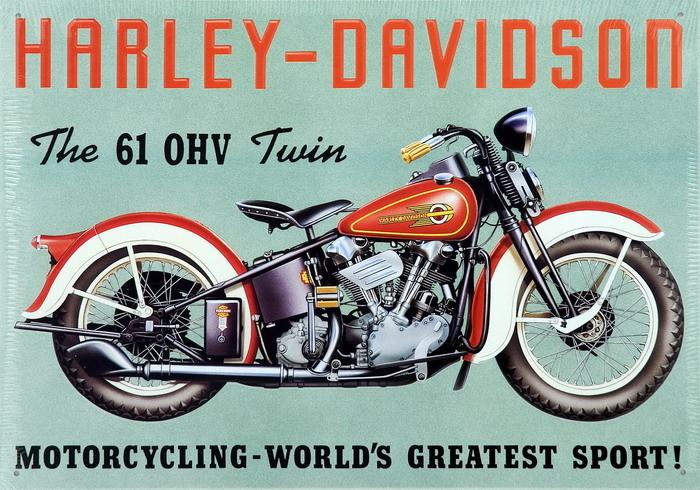 Metalowa tabliczka HARLEY DAVIDSON - TWIN