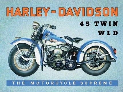 Metalowa tabliczka HARLEY DAVIDSON - W.L.D.