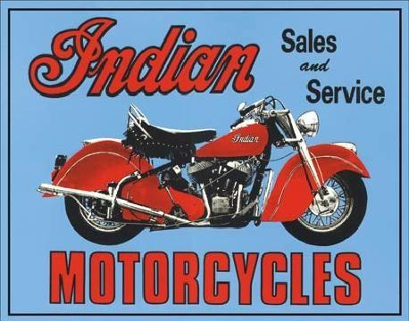 Metalowa tabliczka INDIAN - sales and service