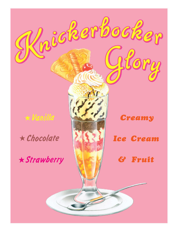 Metalowa tabliczka KNICKERBOCKER GLORY