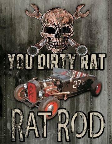 Metalowa tabliczka LEGENDS - dirty rat