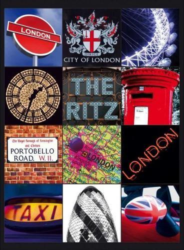Metalowa tabliczka LONDON COLLAGE 2