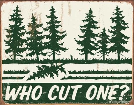 Metalowa tabliczka SCHONBERG - Who Cut One?