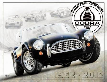 Metalowa tabliczka Shelby Cobra 50th