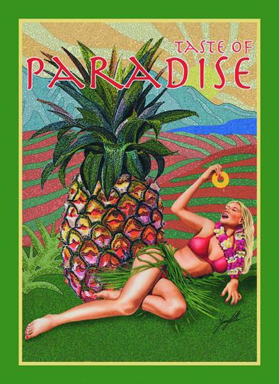 Metalowa tabliczka TASTE OF PARADISE