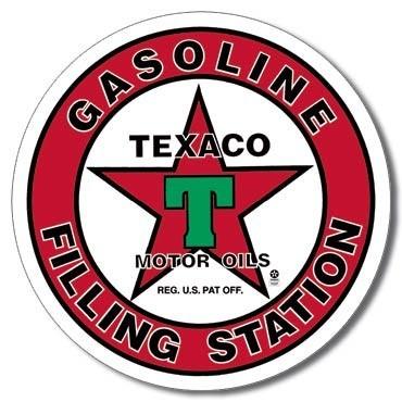Metalowa tabliczka TEXACO - filling station