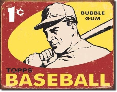Metalowa tabliczka TOPPS - 1959 baseball